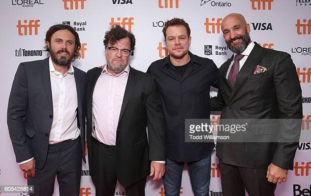 Casey Affleck Writer/director Kenneth Lonergan producer Matt Damon and Amazon Studios Head of Worldwide Film Jason Ropell attend Amazon Studios'...