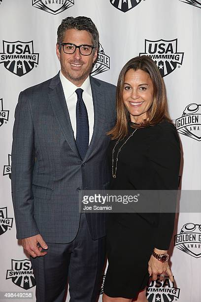 Casey and Laura Wasserman attend the 2015 USA Swimming Golden Goggle Awards at JW Marriot at LA Live on November 22 2015 in Los Angeles California