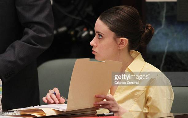 Casey Anthony appears in court at the Orange County Courthouse in Orlando Florida Friday July 1 2011 Judge Belvin Perry unexpectedly called an...
