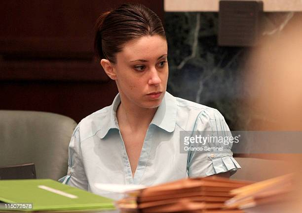 Casey Anthony listens as audio recordings are played during her trail at the Orange County Courthouse in Orlando Florida on Thursday June 2 2011