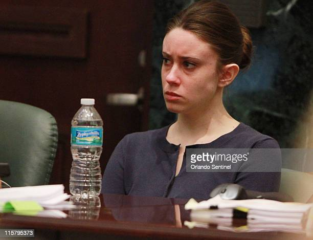 Casey Anthony listens to testimony about forensic evidence during her murder trial at the Orange County Courthouse on Friday June 10 in Orlando...