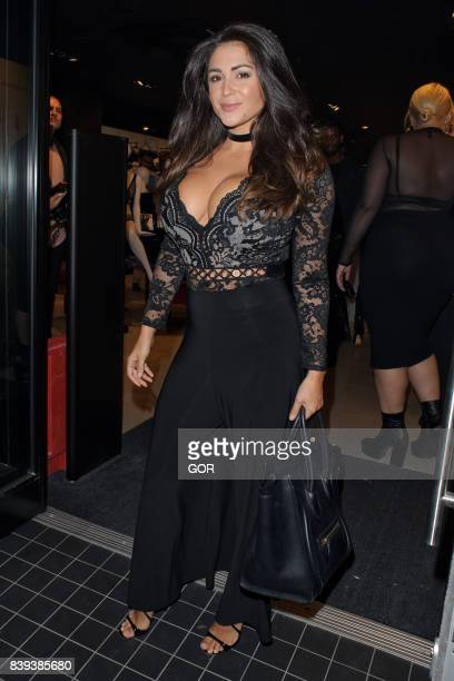 Casey Batchelor arriving at Ann Summers party Oxford Street on August 25 2017 in London England