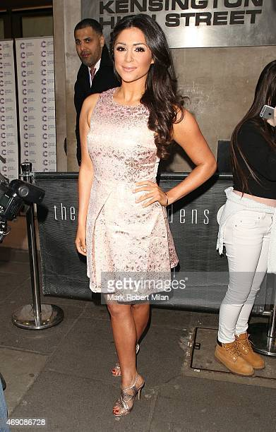 Casey Batchelor attending James Ingham's Jog on to Cancer Research UK event at Kensington Roof Gardens on April 9 2015 in London England
