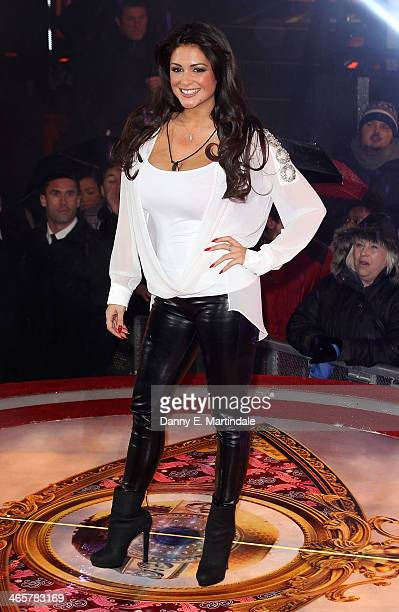 Casey Batchelor is evicted from the Celebrity Big Brother house at Elstree Studios on January 29 2014 in Borehamwood England