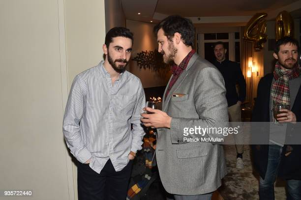 Casey Becker and Alan Kramer attend Marc Adelman's Birthday Party at Private Residence on March 15 2018 in New York City