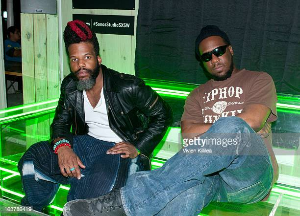 Casey Benjamin and Robert Glasper attend Erikah Badu And The Robert Glasper Experiment Perform at Sonos Studio @ SXSW at Sonos Studios on March 15...