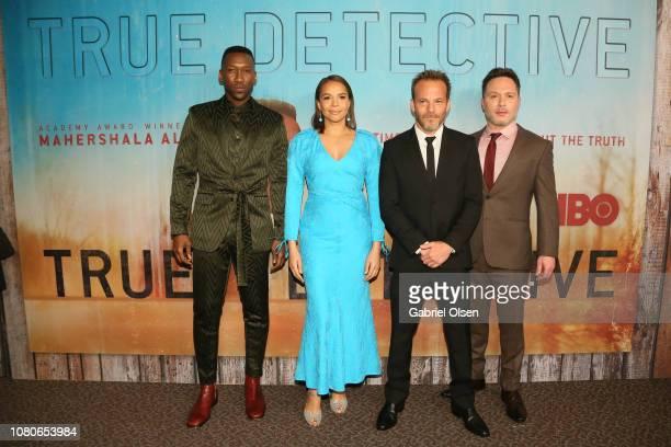Casey Bloys Mahershala Ali Carmen Ejogo Stephen Dorff and Nic Pizzolatto attend the premiere of HBO's True Detective Season 3 at Directors Guild Of...