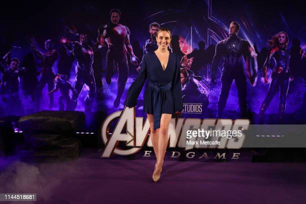 Casey Burgess attends the Sydney screening of Avengers End Game at Hoyts Entertainment Quarter on April 23 2019 in Sydney Australia