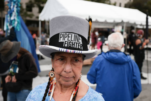 DC: Environmental Activists March To White House On Indigenous Peoples' Day