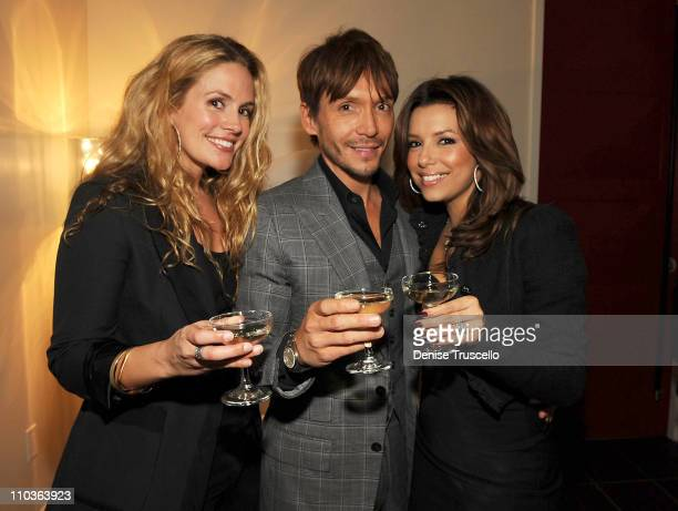 Casey Cobb Ken Paves and Eva Longoria attends the the grand opening of ElevenSpa and Ken Paves Salon Las Vegas on February 11 2009 in Las Vegas Nevada