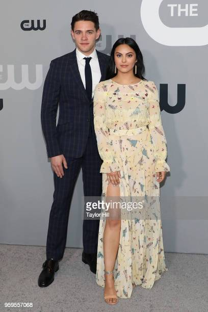 Casey Cott and Camila Mendes attend the 2018 CW Network Upfront at The London Hotel on May 17 2018 in New York City