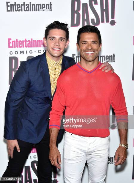 Casey Cott and Mark Consuelos attends Entertainment Weekly's ComicCon Bash held at FLOAT Hard Rock Hotel San Diego on July 21 2018 in San Diego...
