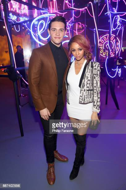 Casey Cott and Vanessa Morgan attend Refinery29 29Rooms Los Angeles Turn It Into Art Opening Night Party at ROW DTLA on December 6 2017 in Los...