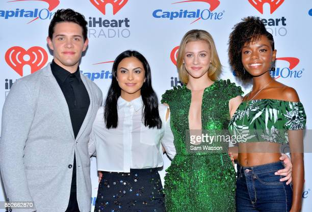 Casey Cott Camila Mendes Lili Reinhart and Ashleigh Murray attend the 2017 iHeartRadio Music Festival at TMobile Arena on September 23 2017 in Las...