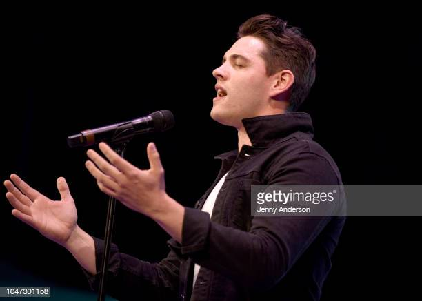 Casey Cott performs onstage during the 4th Annual Elsie Fest Broadway's Outdoor Music Festival at Central Park SummerStage on October 7 2018 in New...
