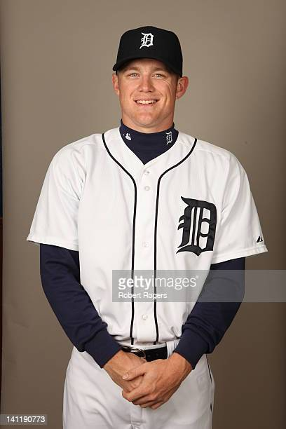 Casey Crosby of the Detroit Tigers poses during Photo Day on Tuesday February 28 2012 at Joker Marchant Stadium in Lakeland Florida
