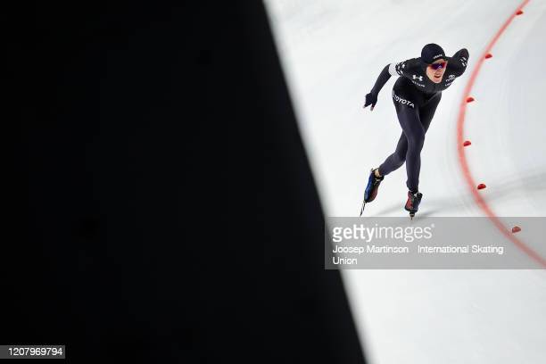 Casey Dawson of the United States competes in the Men's 5000m during the ISU World Junior Speed Skating Championships at Tomaszow Mazoviecki Ice...