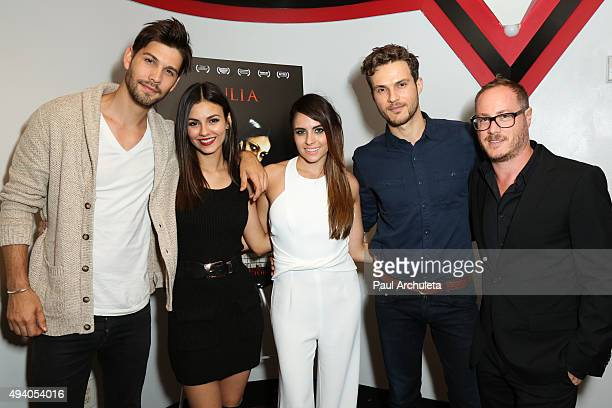 Casey Deidrick Victoria Justice Ashley C Williams Ryan Cooper and Matthew A Brown attend the Julia special screening and QA on October 23 2015 in...