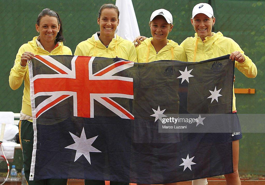 Switzerland v Australia - Fed Cup World Group Play-Offs 2013: Day Three