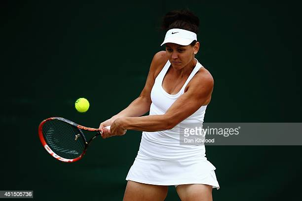 Casey Dellacqua of Australia during her Ladies Doubles Second round match with Ashleigh Barty against Kimiko DateKrumm of Japan and Barbora Zahlavova...