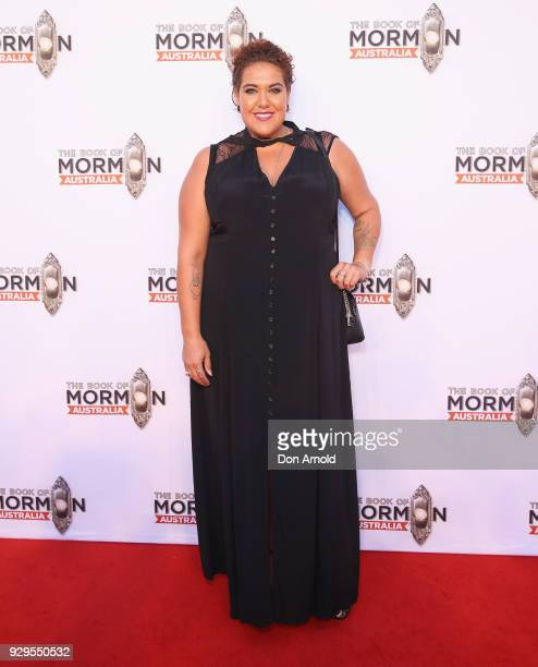 Casey Donovan arrives ahead of The Book of Mormon opening night at the Lyric Theatre Star City on March 9 2018 in Sydney Australia