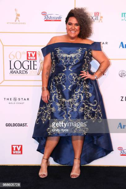 Casey Donovan arrives at the 60th Annual Logie Awards at The Star Gold Coast on July 1 2018 in Gold Coast Australia