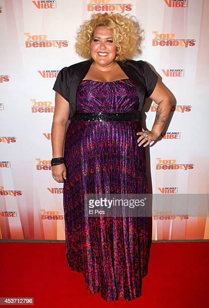 Casey Donovan attend the 2012 Deadly Awards at the Sydney Opera House on September 25 2012 in Sydney Australia