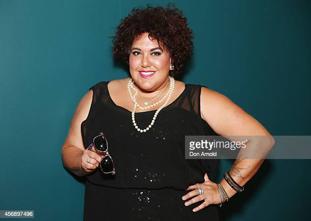 Casey Donovan poses at the launch of the OneSight inspired RayBan Indigenous Special Edition Wayfarer at Australian Museum on October 9 2014 in...