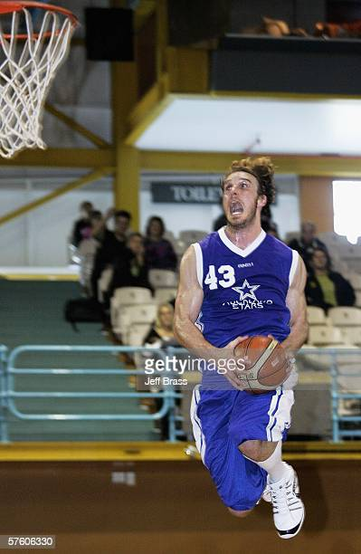 Casey Frank of the Auckland Stars goes up for a slam dunk during the round seven NBL match between the Auckland Stars and the Nelson Giants at the...