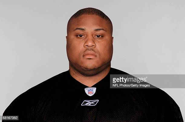 Casey Hampton of the Pittsburgh Steelers poses for his 2005 NFL headshot at photo day in Pittsburgh Pennsylvania