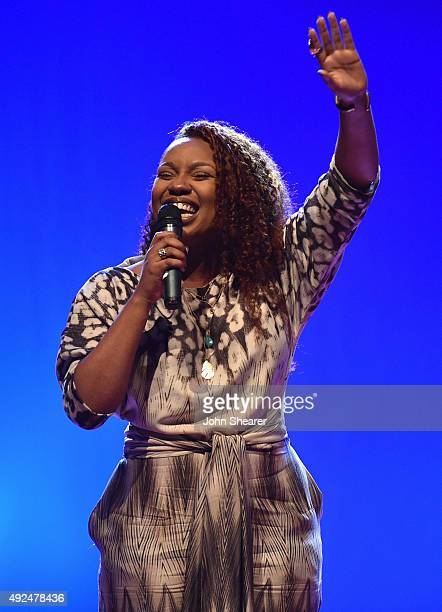 Casey J performs during the 46th Annual GMA Dove Awards Pre Show at Allen Arena, Lipscomb University on October 13, 2015 in Nashville, Tennessee.