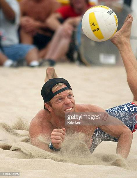 Casey Jennings in the AVP Hermosa Beach Open