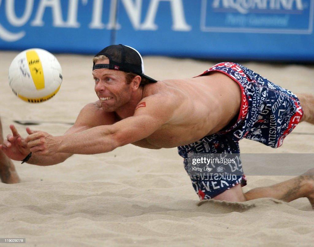 Casey Jennings in the AVP Hermosa Beach Open.