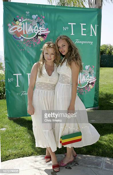 Casey Johnson and Bijou Phillips during No. Ten by Tanqueray hosts Angela Lindvall's Pool Party Benefitting The Collage Foundation at Private...