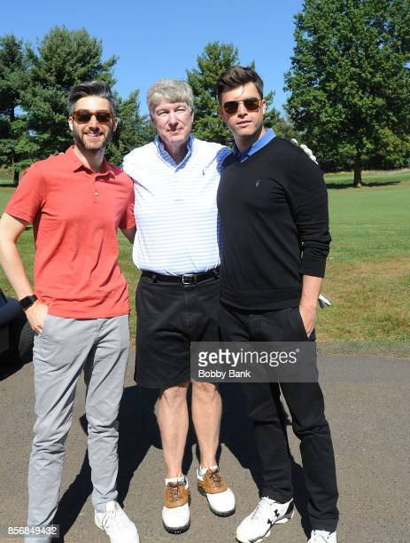 Casey Jost writer for Impractical Jokers SNL cast member Colin Jost and their father Daniel A Jost attend the 2nd Annual Laughs On The Links...