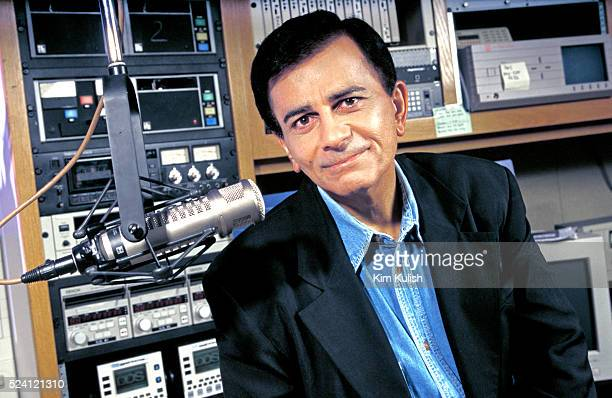 Casey Kasem radio host of American Top 40 died today at age 82 Kasem is pictured here in March 1998 while taping his long running radio show in Los...