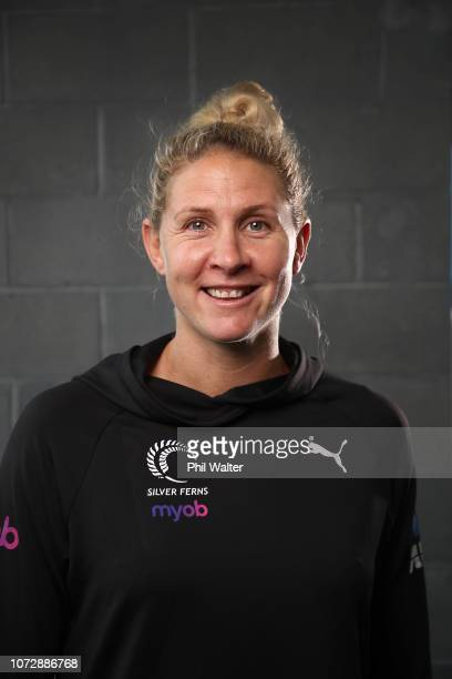 Casey Kopua of the Silver Ferns poses for a portrait during the Silver Ferns Northern Netball Quad Series Team Announcement at the Spencer On Byron...