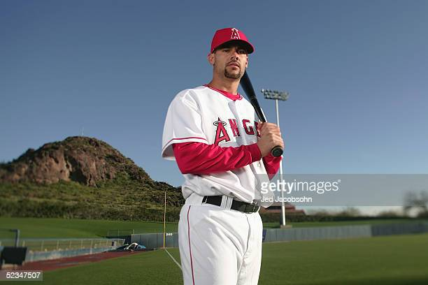 Casey Kotchman of the Los Angeles Angels of Anaheim poses for a portrait during Spring Training Photo Day at Tempe Diablo Stadium on February 24 2005...
