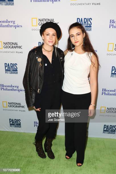 Casey LaBow and Zero Hour CoFounder Jamie Margolin attend Bloomberg Philanthropies RadicalMedia Host The Los Angeles Premiere Of 'Paris To...