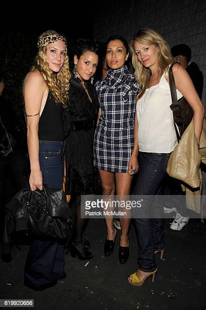 Casey Labow Anna Shimonis guest and Jennifer Justice attend SHIN Restaurant Opening at Shin on October 13 2008 in Hollywood CA