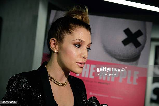 Casey LaBow attends 'Free The Nipple' New York Premiere at IFC Center on December 11 2014 in New York City