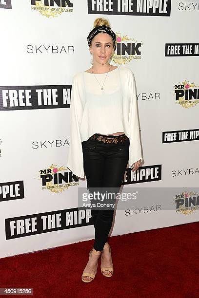 Casey LaBow attends the 'Free The Nipple' fundraiser hosted by Russell Simmons at SkyBar at the Mondrian Los Angeles on June 19 2014 in West...