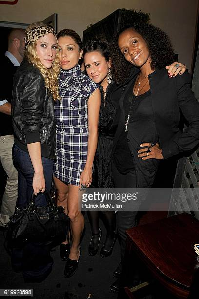Casey Labow guest Anna Shimonis and Lysa Cooper attend SHIN Restaurant Opening at Shin on October 13 2008 in Hollywood CA