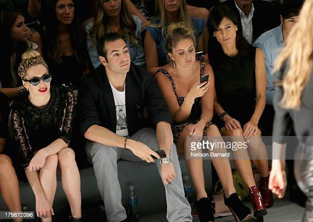 Casey LaBow Mohammed Al Turki Sophie Curtis and Perrey Reeves attend the Jill Stuart Spring 2014 fashion show during MercedesBenz Fashion Week at The...