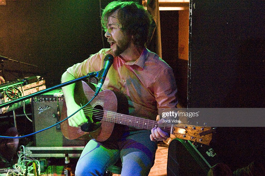 Casey Laforet of Elliott Brood performs on stage at Razzmatazz on February 13, 2013 in Barcelona, Spain.