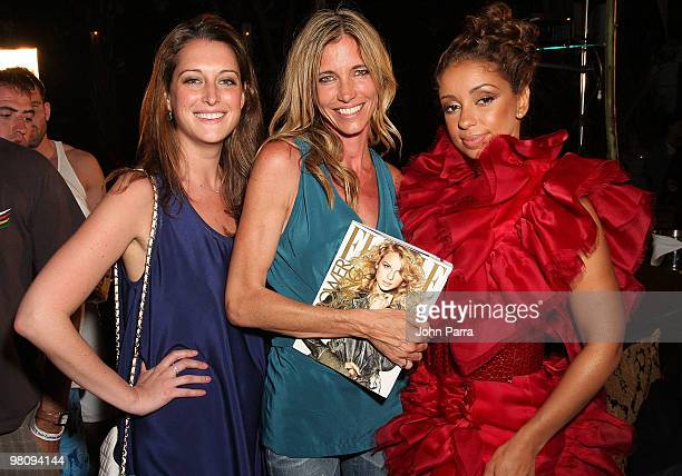 Casey Marks Arianne Brown and Mya attend the closing party for Rock Media Fashion Week Miami Beach at Vita Restaurant Lounge on March 27 2010 in...