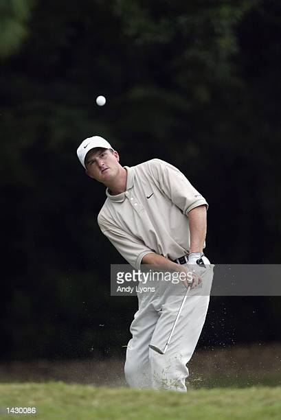 Casey Martin hits a shot during the second round of the Tampa Bay Classic at the Westin Innisbrook Resort on September 20, 2002 in Palm Harbor,...