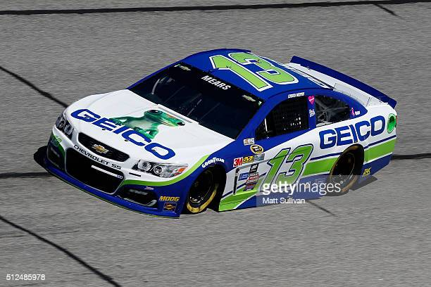 Casey Mears driver of the GEICO Chevrolet practices for the NASCAR Sprint Cup Series Folds of Honor QuikTrip 500 at Atlanta Motor Speedway on...