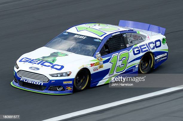 Casey Mears driver of the GEICO Ford during practice for the NASCAR Sprint Cup Series CocaCola 600 at Charlotte Motor Speedway on May 23 2013 in...