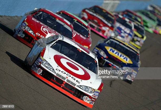 Casey Mears drives his Target Ganassi Racing Dodge during the NASCAR Winston Cup Checker Auto Parts 500 November 2 2003 at Phoenix International...